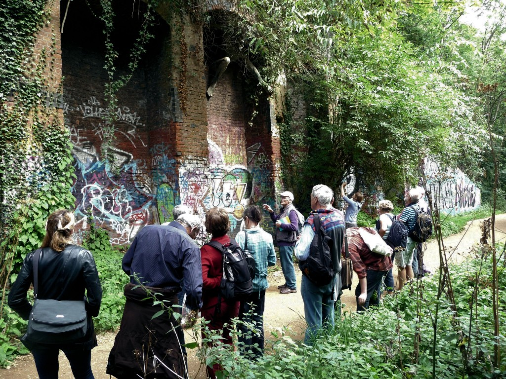 Geopoetics - Parkland Walk, Rich tells walkers about the Spriggan