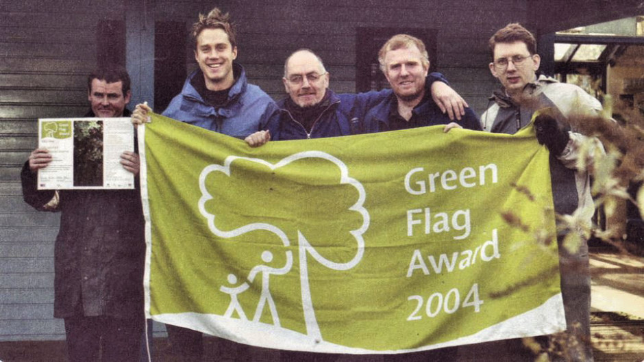 Gillespie Green Flag award x 0.5 clarify