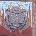 Gillespie Park frog mosaic