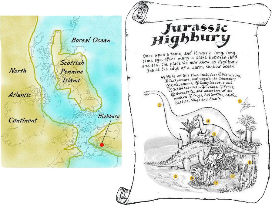 Jurassic-Dinosaur-Map