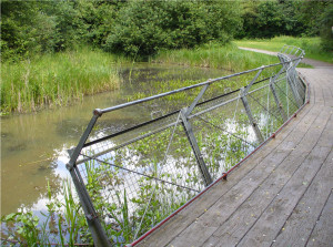 Row 1 No 4 - Boardwalk, Water Dipping panels by Gillespie Park Big Pond