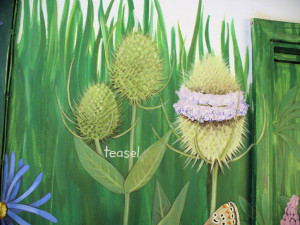 Row 5 No 1 - Wildflower mural - Teasel